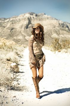 Western Chic - Dress by Union of Angels, Boots by Old Gringo, Belt by Brave