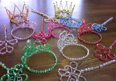Vbs Crafts, Wire Crafts, Crafts To Do, Bead Crafts, Crown For Kids, Beading Techniques, Diy Hair Bows, Origami Art, Crafts For Girls