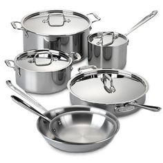 I really wish I had this All-Clad® Stainless Steel 10-Piece Cookware Set and Open Stock! #BedBathAndBeyond