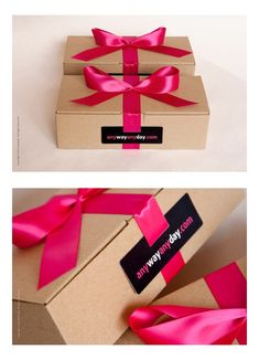 Gift boxes for  key clients and partners, kraft boxes and silk bows