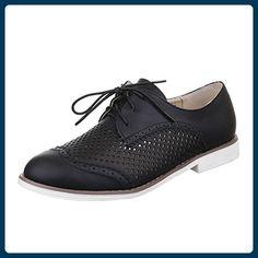 94524f483e35 Damen Schuhe, 6139-1, HALBSCHUHE, PERFORIERTE SCHNÜRER, Synthetik in  hochwertiger Lederoptik