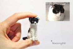 needle felted cat kitten - Your cat as a pendant - custom felted cat - €35.00, via Etsy. by jodi