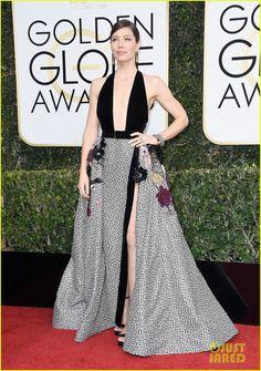 #slay 2017 Golden Globes | Jessica Biel in Elie Saab Haute Couture
