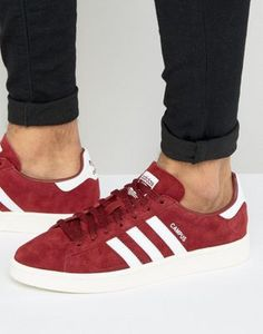 adidas Originals Campus Trainers In Burgundy BB0079