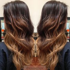 this is how I want to ombre my hair .