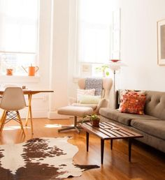 Claire Mazur + Chris Roan's loft-like home in the DUMBO neighborhood of Brooklyn. Claire is the co-founder of Of a Kind