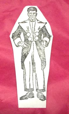 Circus Entertainer announcer rubber stamp man Male image in suit Entertainment #Unbranded #CircusEntertainers