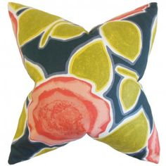 The Pillow Collection Xenophon Geometric Citrine Down Filled Throw Pillow