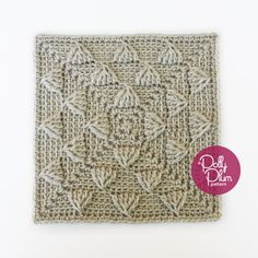 """Mack the Knife - free 9"""" crochet square pattern by Polly Plum at Every Trick on the Hook."""