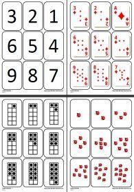 Jeu de cartes des chiffres Un jeu pour se familiariser avec 9 représentations différentes des chiffres de 1 à 9.