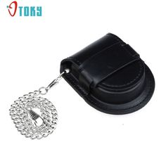 Excellent Quality 2017 New Black Vintage Pocket Watch Holder Box Coin Purse Pouch Bag With Chain Jan-05