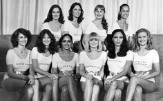 The favourite contestants for the end of seventies title received their own photocall in personalised leotards Miss World, Swimsuits, Bikinis, Swimwear, Beauty Pageant, Leotards, Fashion Beauty, Vintage Fashion, The Unit