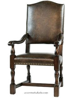 Brown Leather Arm Chair Online Accents of Salado