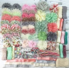DIY-Headband Kit 35+ Headbands- Make Your Own Headbands- VINTAGE CHIC by PamperYourPrincess on Etsy https://www.etsy.com/listing/242299731/diy-headband-kit-35-headbands-make-your