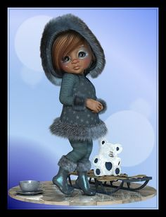 Anitram Graphics: Waiting for Cute Little Girls, Cute Kids, Girl Cartoon, Cute Cartoon, Little Designs, Fairy Art, Fairy Dolls, Whimsical Art, Picture Design