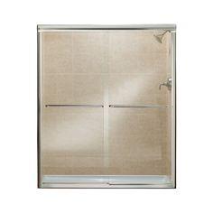 """Finesse 70.06"""" x 57"""" Sliding Frameless Shower Door"""