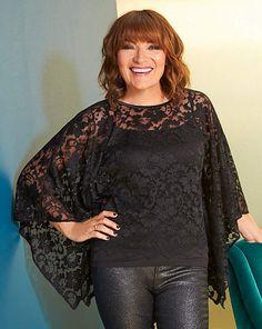 Itv Presenters, Simple Cocktail Dress, Carol Vorderman, Black Tights, Batwing Sleeve, Lorraine, Lace Overlay, Looks Great, Beautiful People