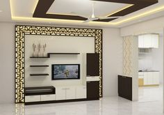 Classic living room interior design for a luxurious h. House Ceiling Design, Ceiling Design Living Room, Bedroom False Ceiling Design, False Ceiling Living Room, Tv Wall Design, Tv Unit Interior Design, Tv Unit Furniture Design, Interior Design Living Room, Room Interior