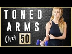 Toned Arm workout For Women Over 50 Arm Workout For Beginners, Good Arm Workouts, Arm Toning Exercises, Easy Workouts, At Home Workouts, Circuit Workouts, Cardio, Stretches, Tricep Workout Women