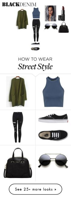 """""""street style"""" by xoxotiffvni on Polyvore featuring Topshop, Vans, NARS Cosmetics, Furla, women's clothing, women's fashion, women, female, woman and misses"""