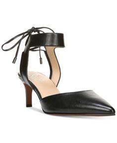 Franco Sarto Darby Pointed Toe Ankle-Tie Pumps   macys.com