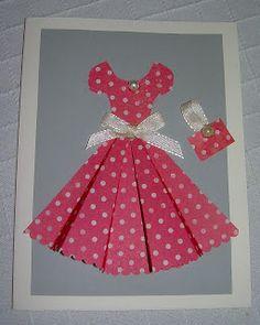 Pink Sleeved Dress Card