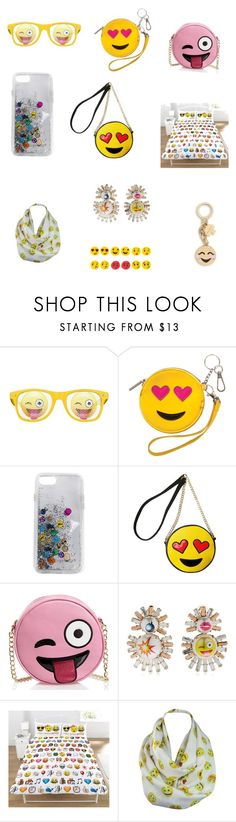 """""""I  emojis"""" by chelsea011 ❤ liked on Polyvore featuring Rebecca Minkoff, Olivia Miller, Bijoux de Famille, Emoji and Kate Spade"""