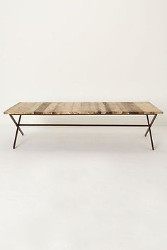 plank coffee table with simple form