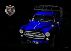 Peugeot 403 Camion in black & blue