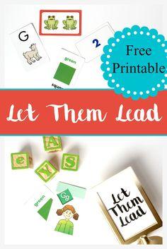 let them lead. FREE  printable