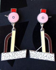 """Ettore Sottsass """"Tahiti"""" Earrings"""