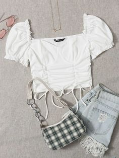 Cute Girl Outfits, Girly Outfits, Cute Casual Outfits, Summer Outfits For Teens, Kids Outfits, Cute Fashion, Look Fashion, Fast Fashion, Girls Fashion Clothes