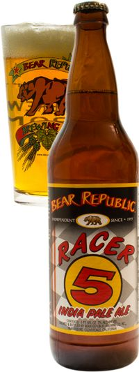 Racer 5 IPA from Bear Republic (CA) is 7 ABV and 75 IBU.  Appearance and nose are all west coast IPA.  The flavor profile follows, bitter citrus hop, spicy, with a great malty backbone and sticky resin.  This is a damn good IPA, considerable IBU and ABV but so drinkable and balanced.  This hits a sweet spot between Dogfish 60 and 90, and it may be my new go to IPA.  If you find this absolutely grab one, courtesy of Dan.