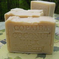 Handcrafted Copaiba Soap with Acai Berry Butter Brazilian Almond Oil .- Due To Its Soothing Properties, Coconut Milk is a Great Moisturizer That Can Replace Moisture in Dehydrated Skin Coconut Oil Soap, Coconut Milk, Essential Oils For Psoriasis, Acai Berry, Organic Soap, Goat Milk Soap, Soap Recipes, Home Made Soap, Soap Making
