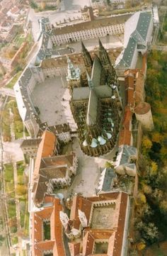 Prague castle from the air, Prague, Czechia Places To Travel, Places To Visit, Visit Prague, Prague Czech Republic, Heart Of Europe, Prague Castle, Europe Photos, Central Europe, Eastern Europe