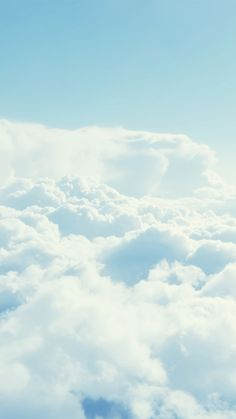 white clouds iPhone wallpaper