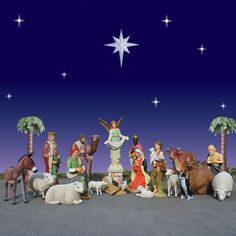 Huge Outdoor Nativity and Animal Scene 20 Pc 6 ft Scale $15,999.00 Item #31001