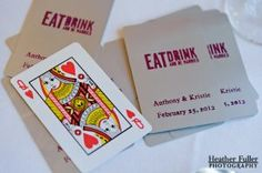 wedding favor - playing cards