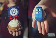Doctor Who cupcake toppers
