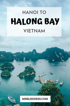 Hanoi To Halong Bay: Travel Guide and Tips No trip to Vietnam is complete without a visit to Halong Bay. Located only 170 km to the East of Hanoi, getting from Hanoi to Halong Bay is very feasible. Cool Places To Visit, Places To Travel, Travel Destinations, Vietnam Travel Guide, Asia Travel, Vietnam Tourism, Travel Plane, France Travel, Montezuma