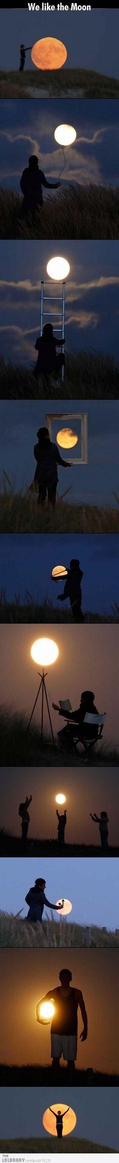 Luna lunita que brillantita