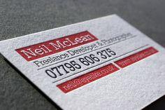 Ayelike letterpress business cards