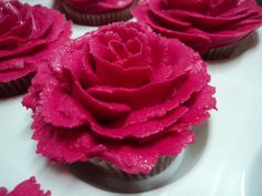 Fuschia Rose Cupcake.