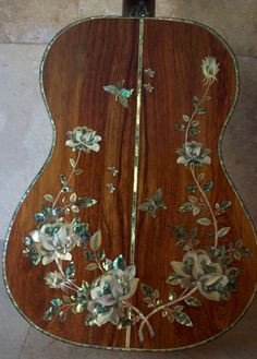 A Masterpiece! Custom Handmade Acoustic Guitar Inlaid Mother of Pearl & Abalone