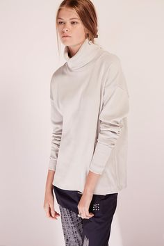 kowtow - 100% certified fair trade organic cotton clothing - Building Block Rib Roll Neck Top