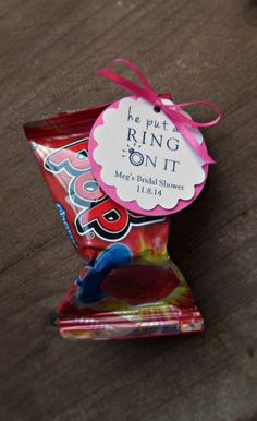 Ring Pop Favors- He Put A Ring On It - for Bridal Showers , Engagement Parties by MailmansDaughter on Etsy https://www.etsy.com/listing/195856308/ring-pop-favors-he-put-a-ring-on-it-for