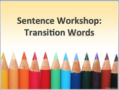 This is a short workshop to introduce or re-introduce students to transition words as a writing tool.The worksheet contains definitions, usage, and examples.There is also a cloze (fill in the blanks) exercise for students to apply their knowledge immediately.Students can keep the worksheet for use as a reference tool when writing.***The presentation is saved as .ppt, and pptx AND pdf.***SAMPLE PROCEDURE1.