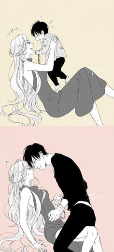 Manga is simply the Japanese version of comic books or graphic novels. Anime Couples Manga, Cute Anime Couples, Anime Guys, Fanarts Anime, Anime Characters, Monster Falls, Images Kawaii, Anime Witch, Anime Lindo