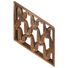 Art Deco Copper Railing [Angled Section]   From a unique collection of antique and modern architectural elements at https://www.1stdibs.com/furniture/building-garden/architectural-elements/