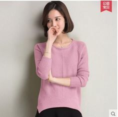 Woman Plus Size Autumn O neck Solid Thick 30% Wool Pullovers Sweater Female Winter Hedging Warm Asymmetry Cashmere Sweaters